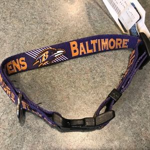 Baltimore Ravens Fan Gear Adjustable Dog Collar